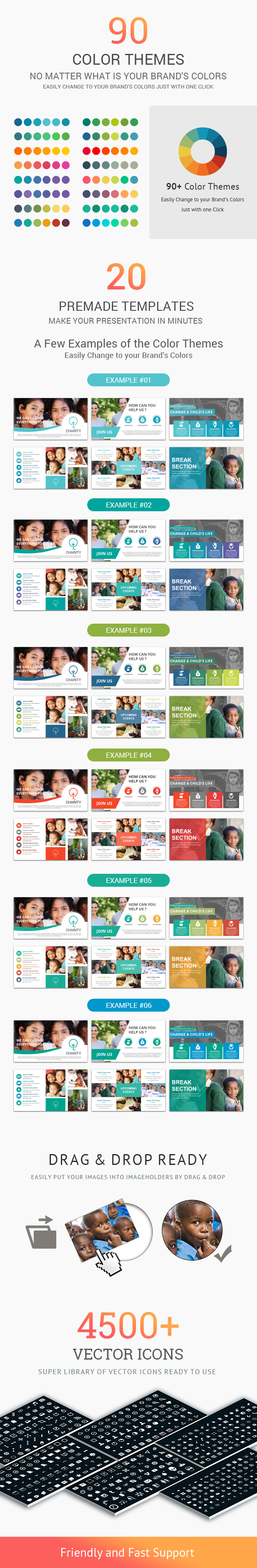 Charity Creative PowerPoint Presentation Template - 1
